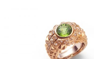 Peridot Pyramid Ring