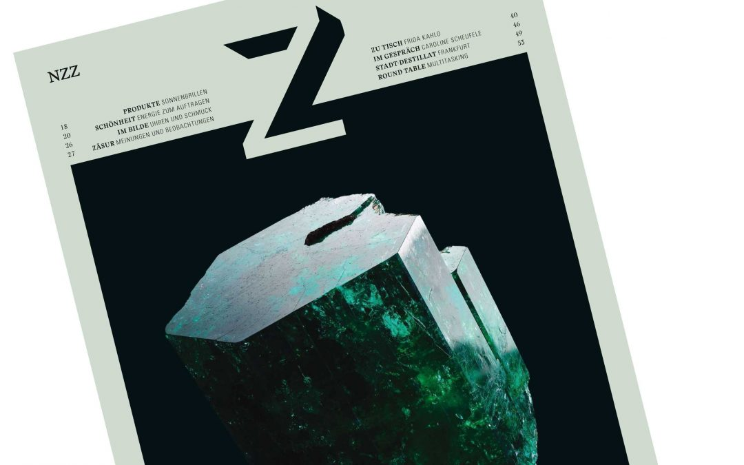 Moonstone Earrings in the Z Magazine of the NZZ